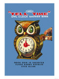 Tell Time Owl Clock Posters
