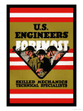 U.S. Engineers Foremost Print by Charles Buckles Falls