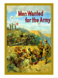 Men Wanted for The Army Posters