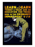 Learn and Earn Poster by Charles Buckles Falls