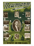 Newmann the Great Hypnotist and Mind Reader Posters
