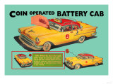 Coin Operated Battery Cab Posters