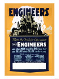 Blaze the Trail for Education, The Engineers Posters