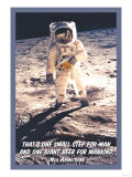 That is One Small Step for Man and a Giant Beer for Mankind Print