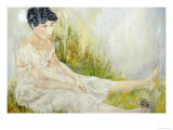 Woman with Butterfly Premium Giclee Print by Norma Kramer