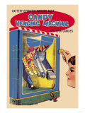 Candy Vending Machine Print