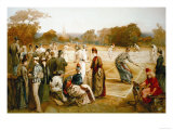 Victorian Tennis Match Prints
