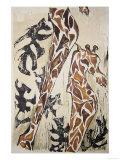 Giraffes Print by Norma Kramer