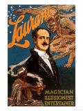 Laurant Magician, Illusionist, Entertainer Print