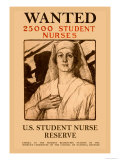 Wanted 25,000 Student Nurses Art by Milton Bancroft