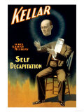 Kellar in His Latest Mystery: Self Decapitation Prints
