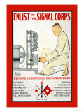 Enlist in the Signal Corps Posters by J. Mcgibbon Brown