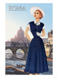 Roma Vatican View Fashion II Posters
