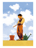 Spring Planting Poster by Maxfield Parrish