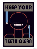 Keep Your Teeth Clean Premium Giclee Print