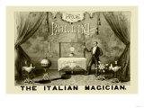 Professor Bollini, The Italian Magician Print