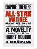 A Novelty, The First in 20 Years, Harry Houdini as a Magician Poster