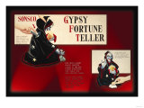 Gypsy Fortune Teller Instructions Prints