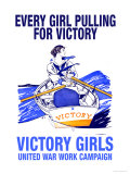 Every Girl Pulling for Victory Posters by Edward Penfield