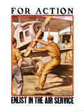 For Action, Enlist in the Air Service Poster by Otho Cushing