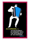 Accordian Premium Giclee Print