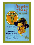 Know Him By This Sign, Join the Medical Department, U.S. Army Premium Giclee Print by Barto Van Voohis Matteson