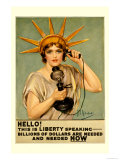 Hello! This is Liberty Speaking Poster by Z.p. Nikolaki