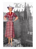 Wall Street 50's Dress Print