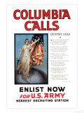 Columbia Calls Prints by Vincent Aderente