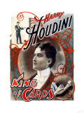 Harry Houdini: King of Cards Premium Giclee Print