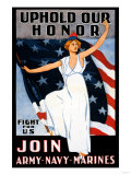 Uphold Our Honor, Join Army, Navy, Marines Premium Giclee Print