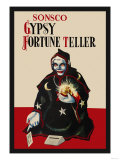 Gypsy Fortune Teller Bank Print