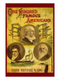 One Hundred Famous Americans Poster