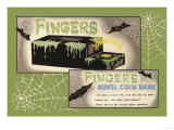 Fingers Novel Coin Bank Prints
