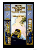 Motor Transport Corps Art by E.r. Euler