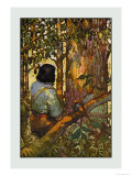 Robinson Crusoe: I Jumped Up and Went Out Through My Little Grove Prints by Frank Goodwin