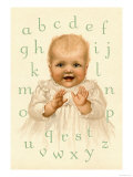 Sweetie's Alphabet Prints by Ida Waugh