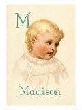 M for Madison Print by Ida Waugh