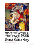 Give the World the Once Over in the United States Navy , c.1919 Premium Giclee Print by James Henry Daugherty