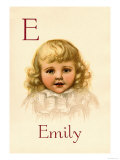 E for Emily Prints by Ida Waugh