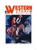 Western Story Magazine: On the Range Posters