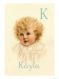 K for Kayla Posters by Ida Waugh