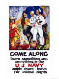 Learn Something, See Something in the U.S. Navy, c.1919 Posters by James Henry Daugherty