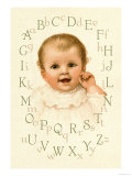 Baby's Alphabet Print by Ida Waugh