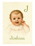 J for Joshua Poster by Ida Waugh