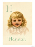 H for Hannah Print by Ida Waugh