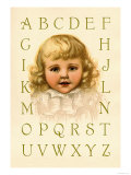 Big Girl Alphabet Art by Ida Waugh