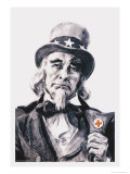 Uncle Sam for the Red Cross Premium Giclee Print by James Montgomery Flagg