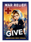 War Relief, Give! Print by F. Sands Brunner