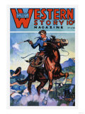 Western Story Magazine: Gunning 'Em Down Posters
